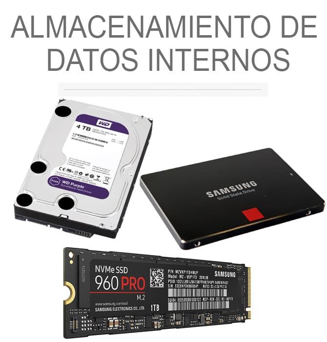Almacenamiento de datos internos
