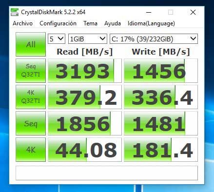 Disco duro de estado sólido SSD M.2